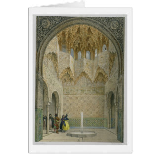 The Hall of the Abencerrages, the Alhambra, Granad Card