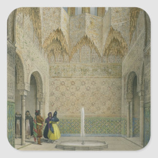 The Hall of the Abencerrages, the Alhambra, Granad Square Sticker