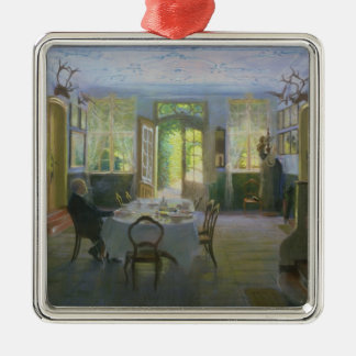The Hall of the Manor House in Waltershof, 1894 Christmas Ornament