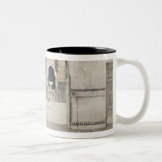 The Hall of the Two Sisters (Sala de las dos Herma Two-Tone Coffee Mug