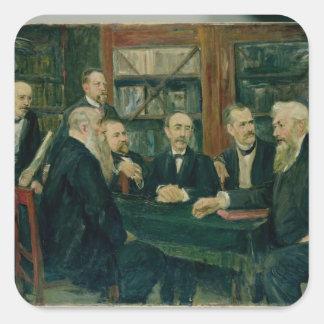 The Hamburg Convention of Professors, 1906 Square Sticker
