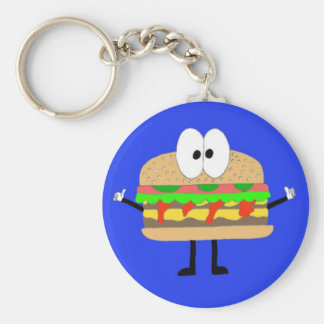 The Hamburger Man doing the Fonzie. Key Ring