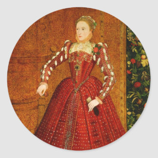 The Hampden Portrait of Elizabeth I of England Round Stickers