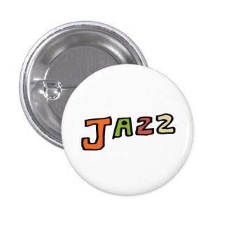 "The hand drawing letter "" jazz "" 3 cm round badge"