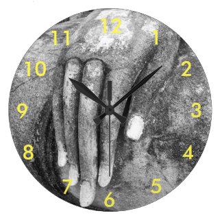 The Hand of Buddha Large Clock