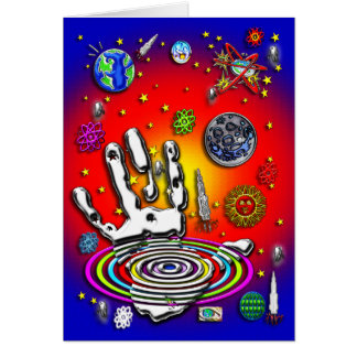 The Hand of Humanity in Space II Greeting Card