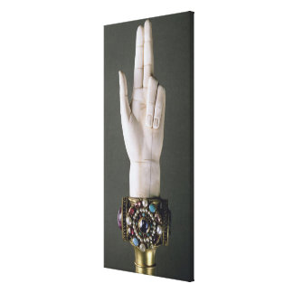 The Hand of Justice, from the Treasure of St. Deni Canvas Print