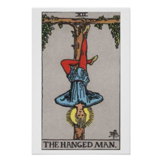 The Hanged Man Tarot Card Poster