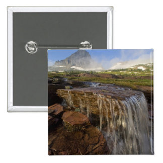 The Hanging Gardens at Logan Pass in Glacier 15 Cm Square Badge