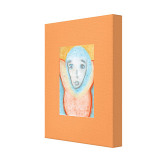 The Hanging Man, Chalk Drawing, Canvas Portrait Gallery Wrapped Canvas