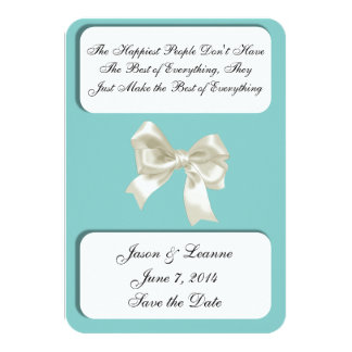 The Happiest People Custom Save the Date Card