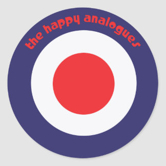 The Happy Analogues Bullseye stickers