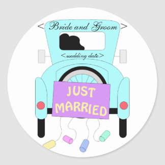 The Happy Couple Classic Round Sticker