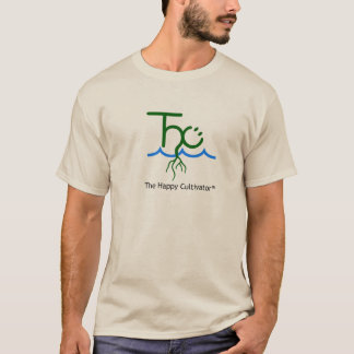 The Happy Cultivator™ logo sand t-shirt