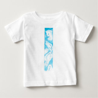 The Happy Dolphins blue fun drawing by FabSpark Baby T-Shirt