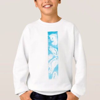 The Happy Dolphins blue fun drawing by FabSpark Sweatshirt
