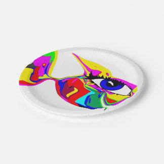 The Happy Fish plate 7 Inch Paper Plate