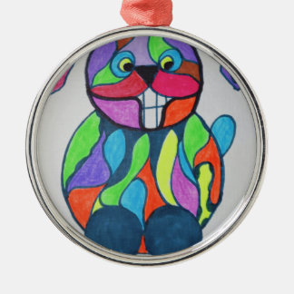 The Happy Hare Silver-Colored Round Decoration