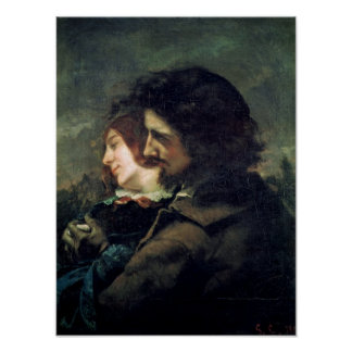 The Happy Lovers, 1844 Poster