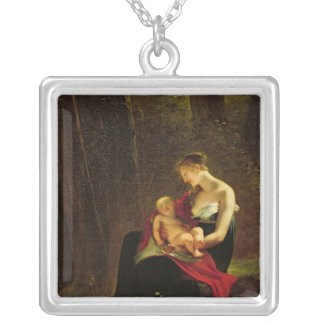 The Happy Mother Silver Plated Necklace