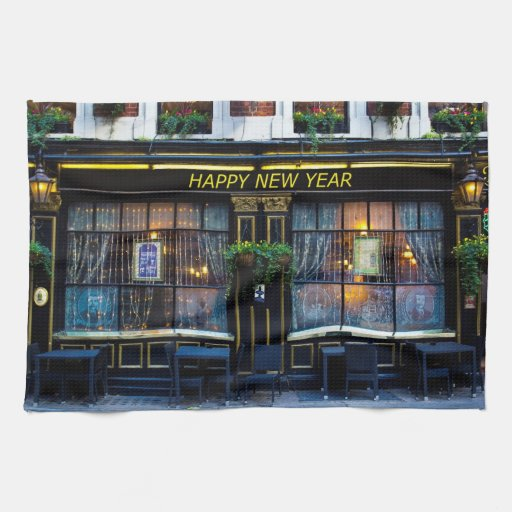 The Happy New Year Pub Kitchen Towels