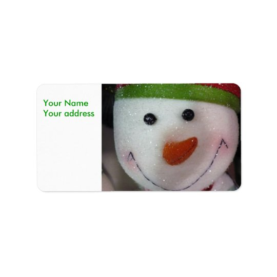 The Happy Snowman, Your NameYour address Label