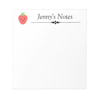 The Happy Strawberry Personalized Notepad