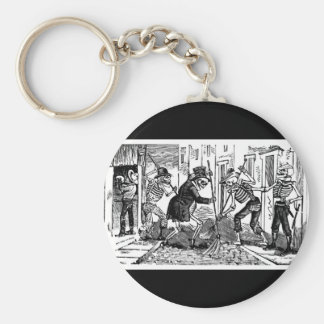 """The Happy Street Cleaner Calaveras"" Basic Round Button Key Ring"