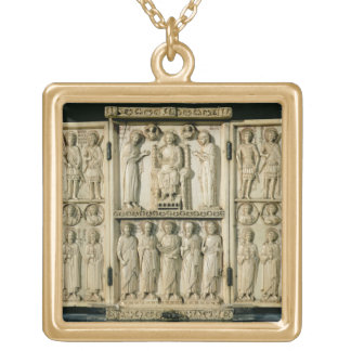The Harbaville Triptych depicting Christ Enthroned Gold Plated Necklace