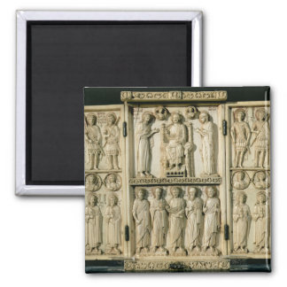 The Harbaville Triptych depicting Christ Enthroned Magnet