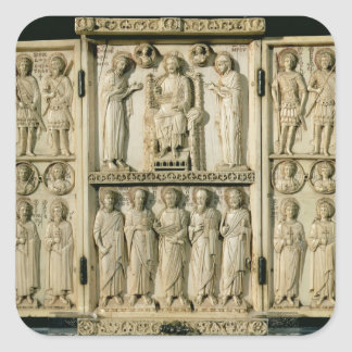 The Harbaville Triptych depicting Christ Enthroned Square Sticker