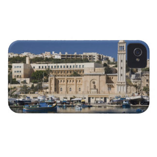 The harbor and church at Marsaskala on the iPhone 4 Cover