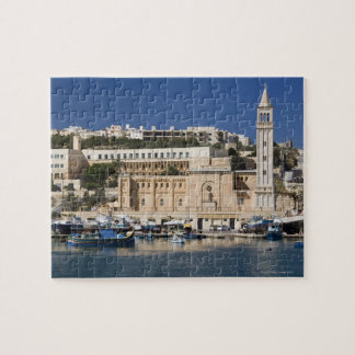 The harbor and church at Marsaskala on the Puzzles