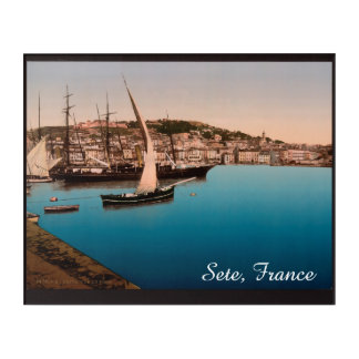 The Harbor In Sete, France Acrylic Wall Art