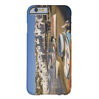 The harbor town with colorful fishing boats barely there iPhone 6 case