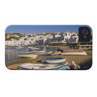 The harbor town with colorful fishing boats Case-Mate iPhone 4 cases