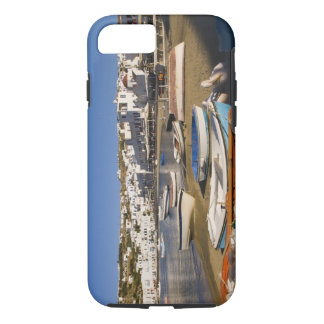 The harbor town with colorful fishing boats iPhone 7 case