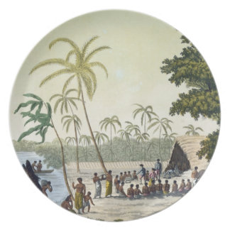 The Harbour at Anamooka, plate 82 from 'Le Costume