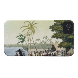 The Harbour at Anamooka, plate 82 from 'Le Costume iPhone 4 Case-Mate Cases
