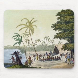 The Harbour at Anamooka, plate 82 from 'Le Costume Mouse Mat