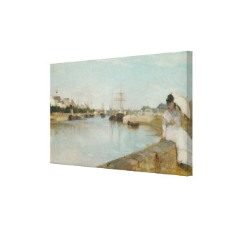 The Harbour at Lorient, 1869 (oil on canvas) Canvas Print