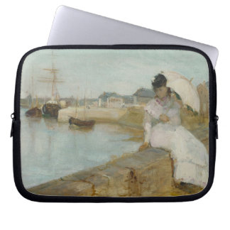 The Harbour at Lorient, 1869 (oil on canvas) Laptop Sleeve