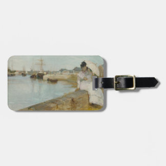 The Harbour at Lorient, 1869 (oil on canvas) Luggage Tag
