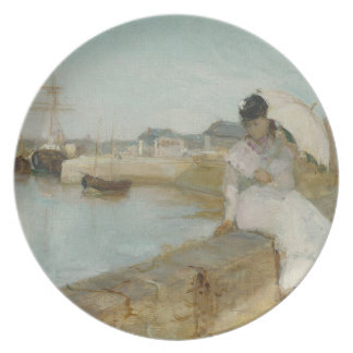 The Harbour at Lorient, 1869 (oil on canvas) Plate