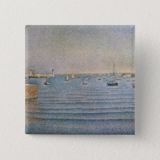The Harbour at Portrieux, 1888 15 Cm Square Badge