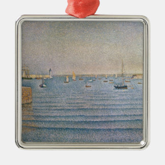 The Harbour at Portrieux, 1888 Silver-Colored Square Decoration