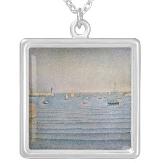 The Harbour at Portrieux, 1888 Silver Plated Necklace