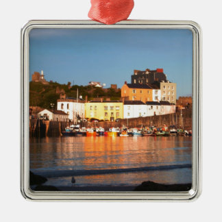 The Harbour At Tenby, South Wales Christmas Ornament