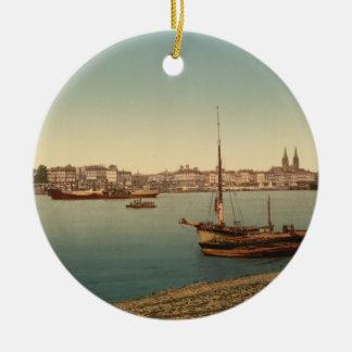 The Harbour, Bordeaux, France Christmas Ornament