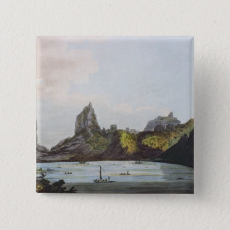 The Harbour of Taloo in the Island of Eimeo 15 Cm Square Badge